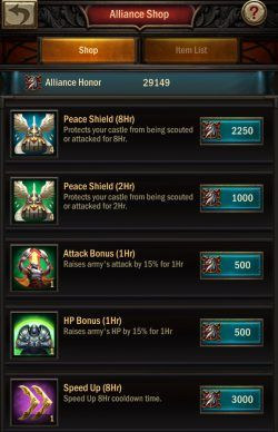 War and Order Alliance Shop