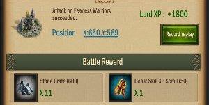 War and Order Beast Item Drop