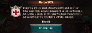 War and Order Battle SOS Skill