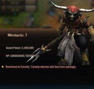 War and Order Territory Defense Minotaur