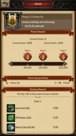 War and Order Strongest Lord Building Event Phase
