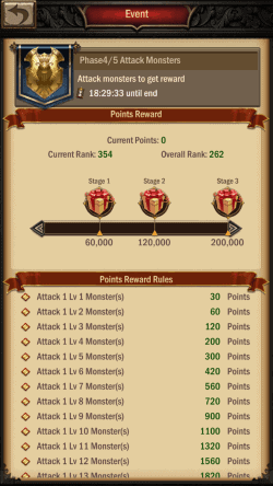War and Order Strongest Lord Monster Kill Event Phase
