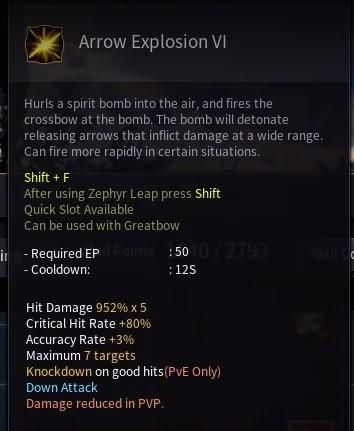 Black Desert Online BDO Archer Skill Build Guide Arrow Explosion