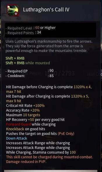 Black Desert Online BDO Archer Skill Build Guide Luthraghon's Call