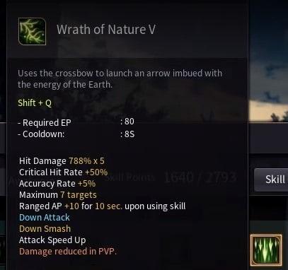 Black Desert Online BDO Archer Skill Build Guide Wrath of Nature