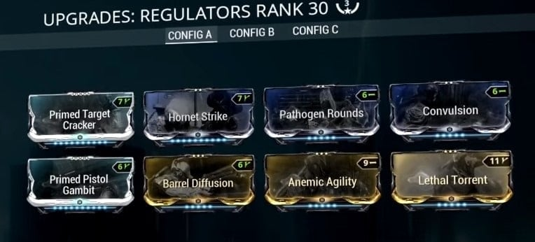 Warframe Mesa Prime Fortuna Build Guide Regulator Mods