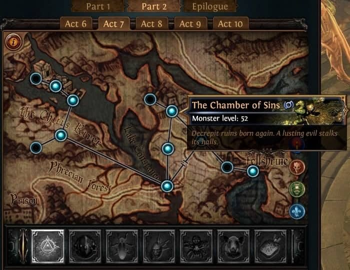 Path of Exile PoE Synthesis Ascendancy Trial Locations List Cruel Lab Chamber of Sins