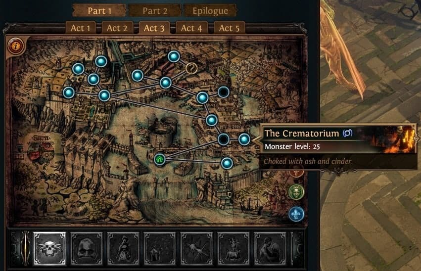 Path of Exile PoE Synthesis Ascendancy Trial Locations List Normal Lab Crematorium