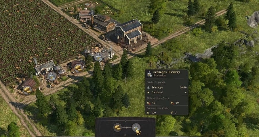 Anno 1800 Production And Population Workforce Guide Crafting Chains Tips And Tricks Schnapps Chain
