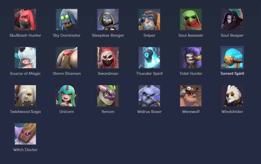 Auto Chess Mobile Game Chess Piece Character Hero List 9