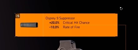The Division 2 How To Get Osprey 9 Critical Hit SMG Secret Suppressor And EXPS3 Critical Hit Scope Sights Stats