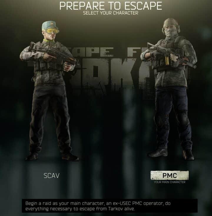 EFT Beginner Guide Scav vs PMC