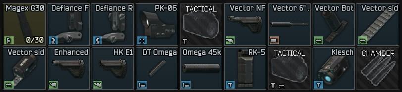 Best high budget vector acp build gun preset parts