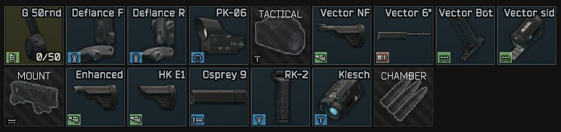 Best high budget vector build gun preset parts